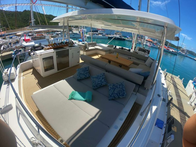 SOMETHING WONDERFUL Yacht Charter - Relaxing Day Bed