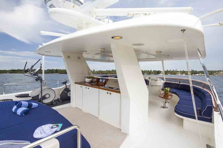 PLAN A Yacht Charter - Upper Deck with Hot Tub