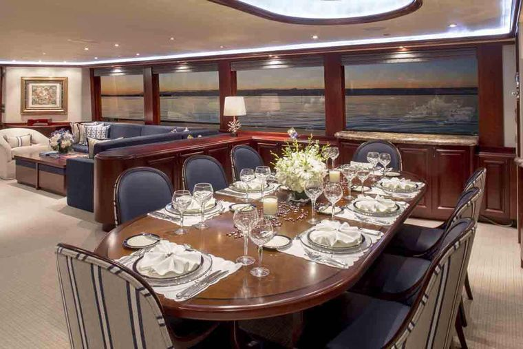 PLAN A Yacht Charter - Formal Dining