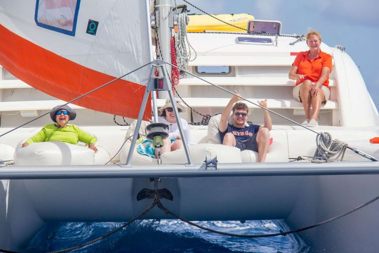 STARFISH Yacht Charter - Sailing up the Drake Channel.
