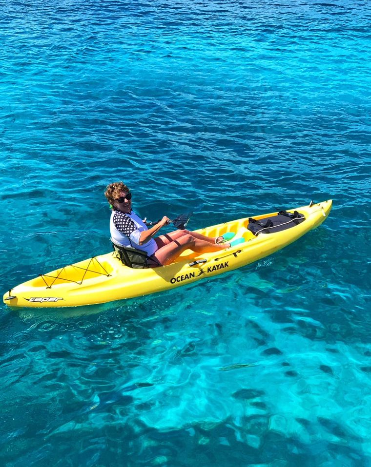 STARFISH Yacht Charter - Kayaking through turquoise blue waters in search of sea turtles off St. John.  Does it get any better?