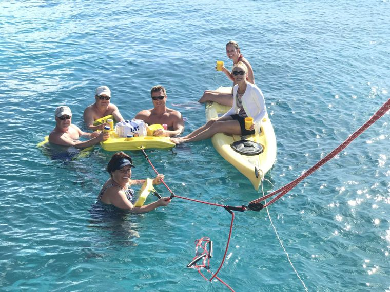 STARFISH Yacht Charter - Float party!