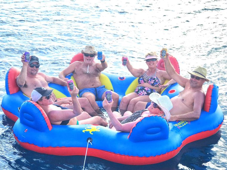 STARFISH Yacht Charter - Let the FLOATING ISLAND shenanigans begin!