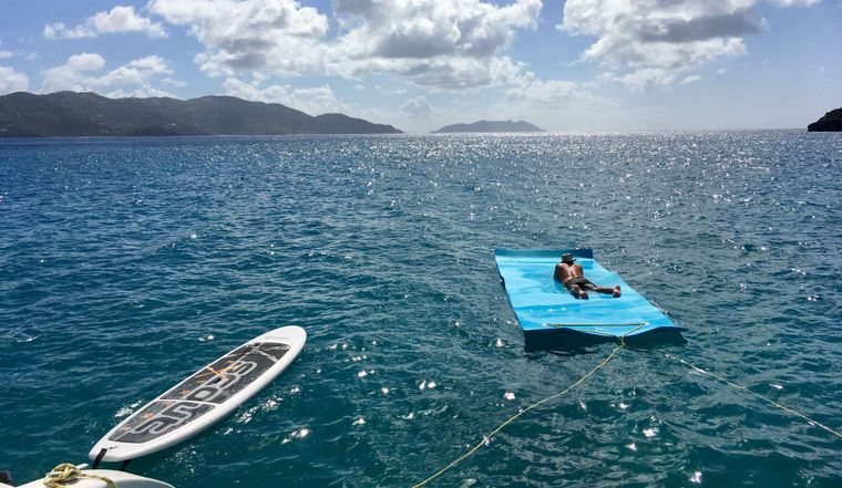 GENESIS II Yacht Charter - Relax in paradise on our giant 6x18' floating mat