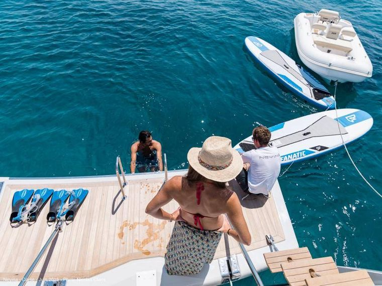 NEYINA Yacht Charter - Back with dinghy & watertoys