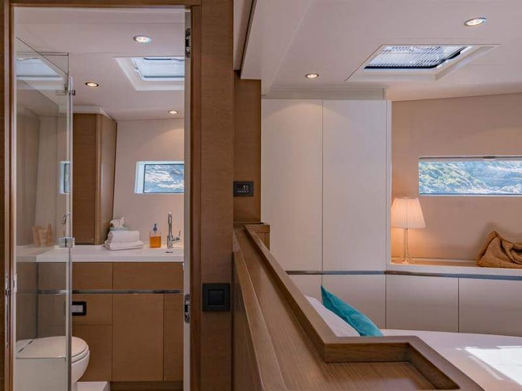 NEYINA Yacht Charter - The master  bathroom ensuite