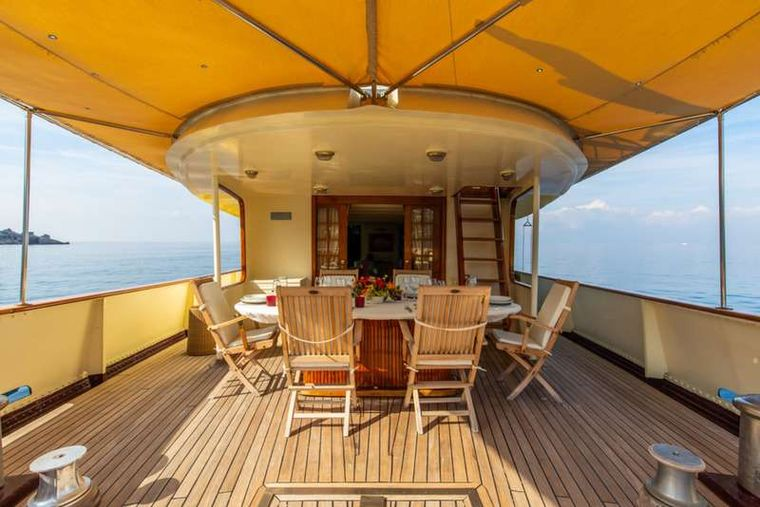 DP MONITOR Yacht Charter - Alfresco dining area