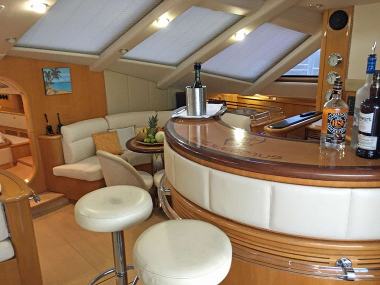 SAGITTARIUS Yacht Charter - Popular Bar Area