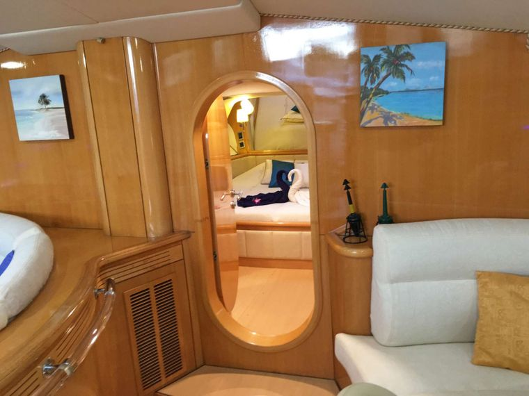 SAGITTARIUS Yacht Charter - Entrance to Primary from Salon