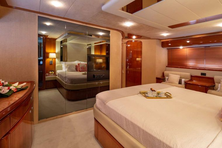 AMOR Yacht Charter - Master cabin other view