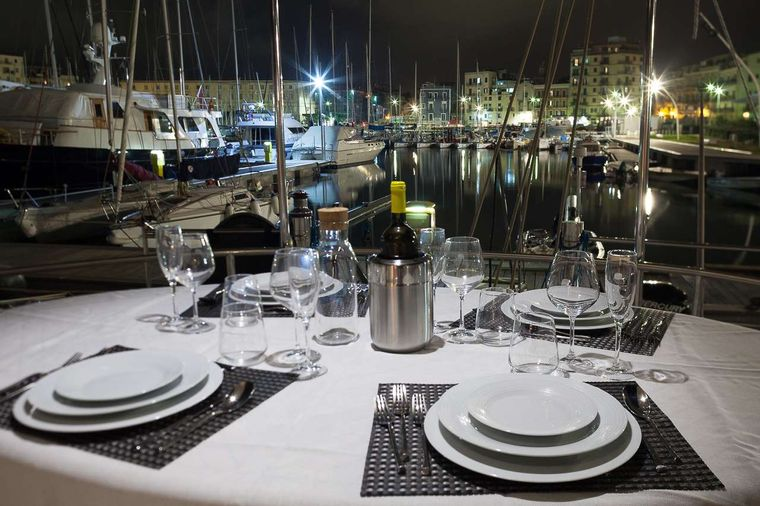 WHALE Yacht Charter - exterior dining area