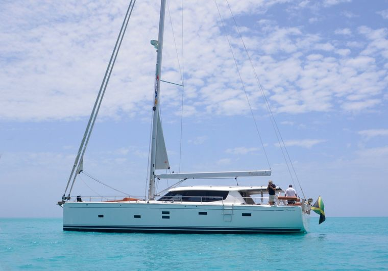 MOJEKA Yacht Charter - At anchor in the turquoise Caribbean waters