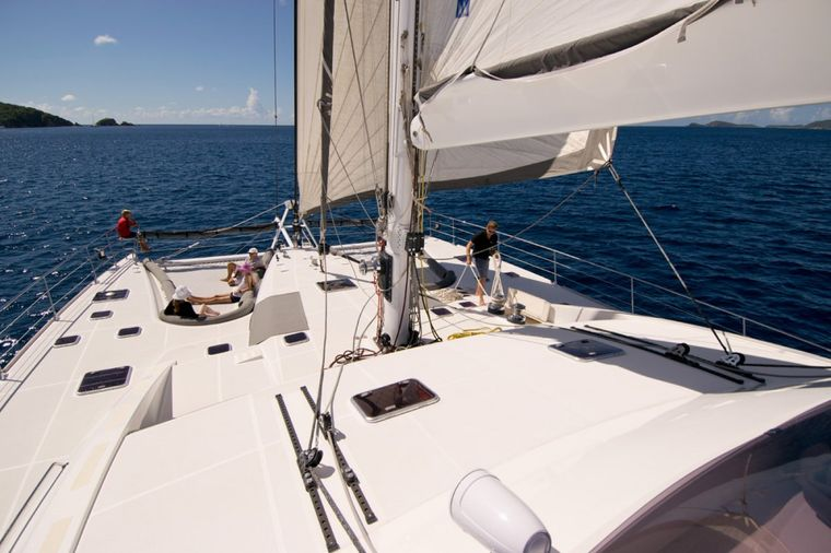 XENIA74 Yacht Charter - Large spacious deck area