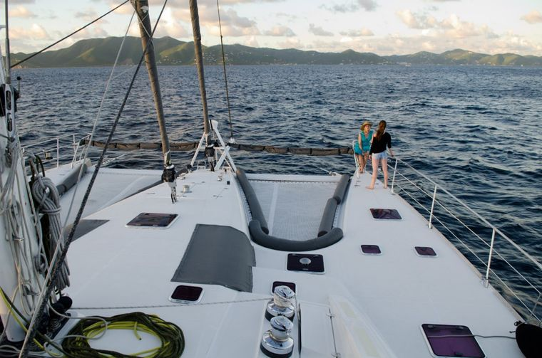 XENIA74 Yacht Charter - Padded backrests on front deck