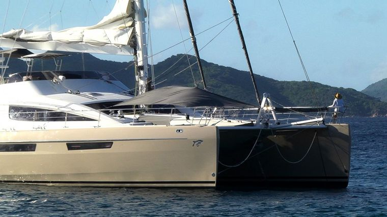 XENIA74 Yacht Charter - Front deck shade awning