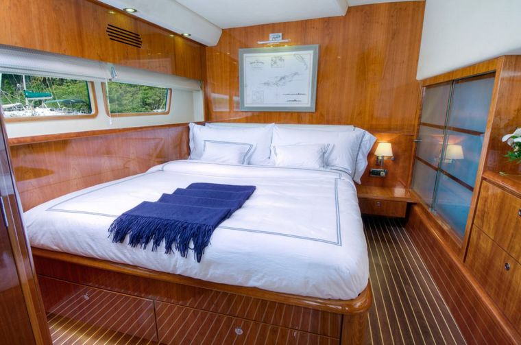 XENIA74 Yacht Charter - Another of the 3 queen guest cabins