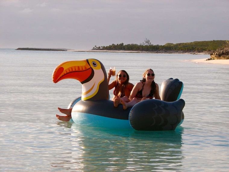 TURQUOISE TURTLE Yacht Charter - Inflatable toucan!