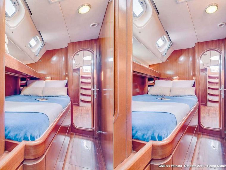 VAINATO Yacht Charter - Starboard cabin with & without bunkbed