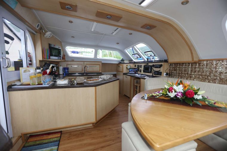 MANNA Yacht Charter - Salon and Galley