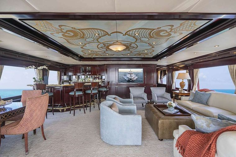 NEVER ENOUGH Yacht Charter - Skylounge forward view