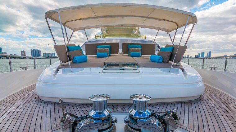 CINQUE MARE Yacht Charter - Bow Seating