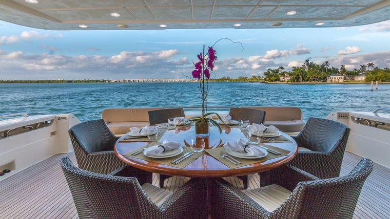 CINQUE MARE Yacht Charter - Aft Deck