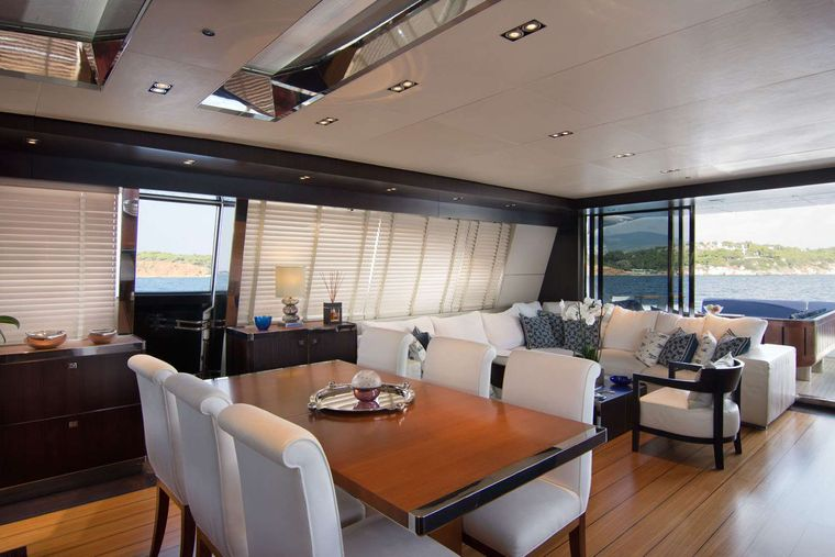 KAMBOS BLUE Yacht Charter - Dining area