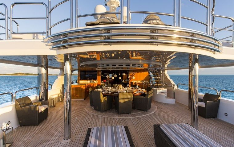 REMEMBER WHEN Yacht Charter - Aft Deck Lounge Area