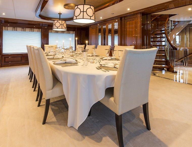 REMEMBER WHEN Yacht Charter - Dining Salon