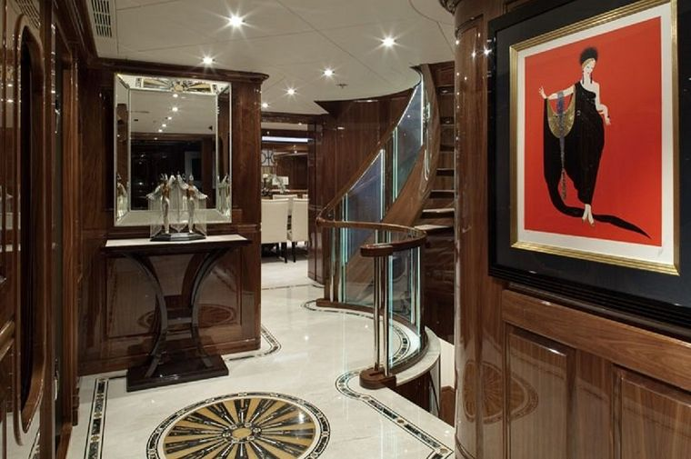 REMEMBER WHEN Yacht Charter - Spiral Staircase and Elevator