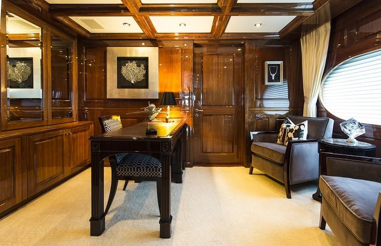 REMEMBER WHEN Yacht Charter - Master Stateroom Office