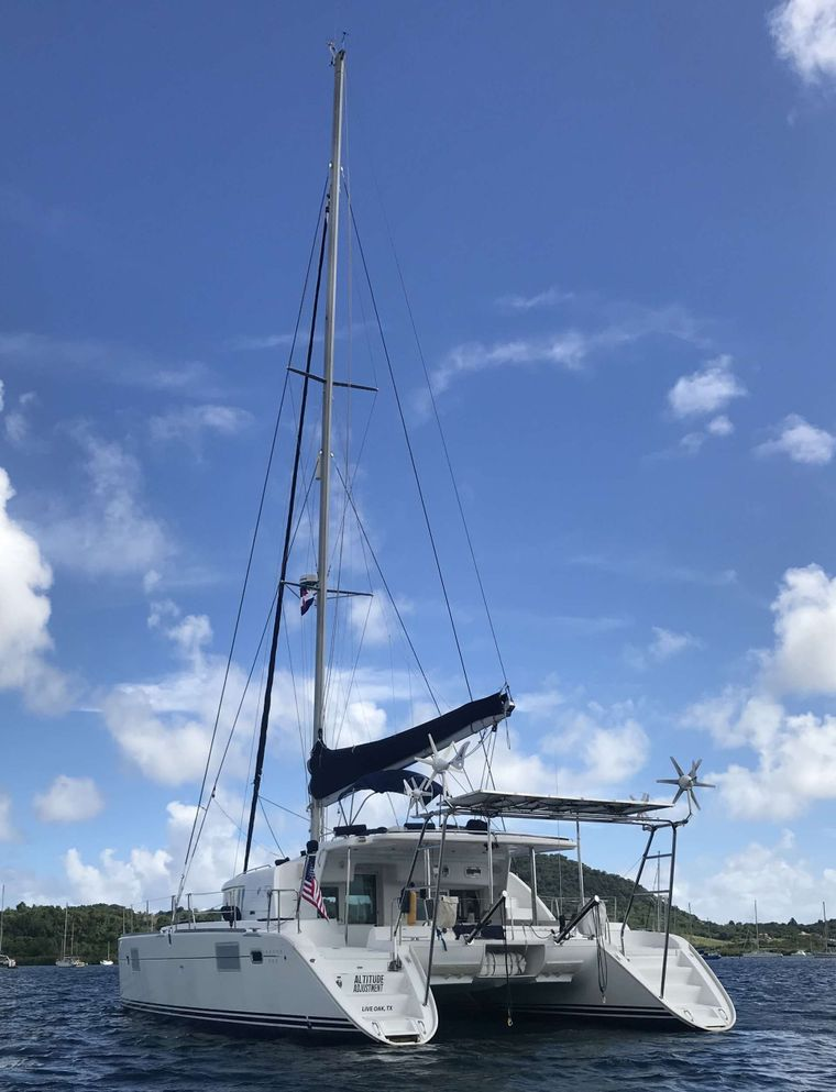 ALTITUDE ADJUSTMENT Yacht Charter - Stern view at anchor