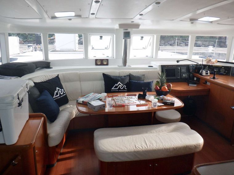 ALTITUDE ADJUSTMENT Yacht Charter - Board games in the Salon