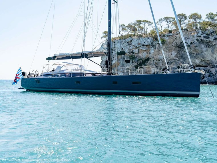 J SIX Yacht Charter - At anchorage