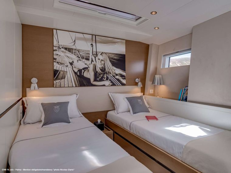 J SIX Yacht Charter - Portside cabin turned into twin-bedded version