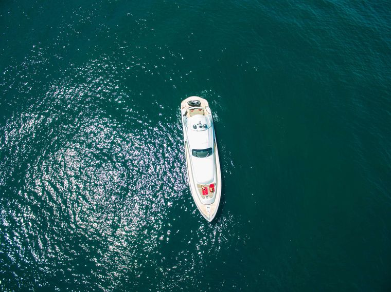 CINQUE Yacht Charter - Aereal View