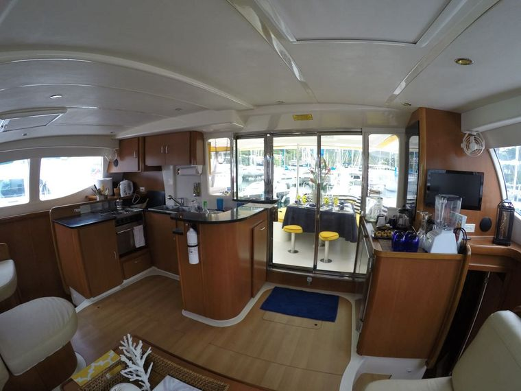 FIREFLY 46 Yacht Charter - From FIREFLY's saloon looking aft