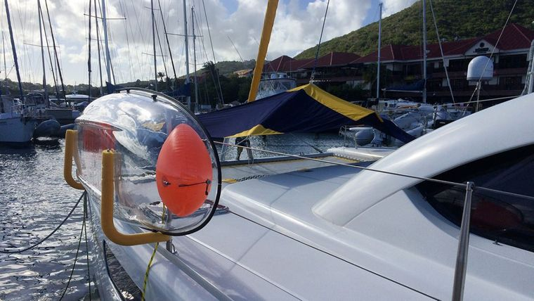 FIREFLY 46 Yacht Charter - Foredeck with one of the clear kayaks