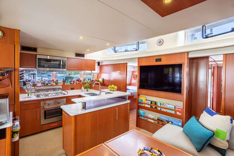 THE ANNEX Yacht Charter - The galley, from the saloon