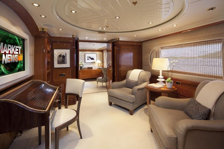 STARFIRE Yacht Charter - Master Suite Office