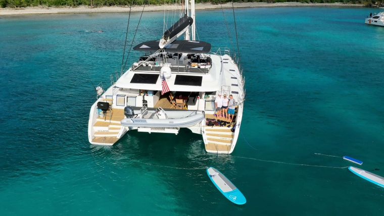 ECLIPSE Yacht Charter - at anchor
