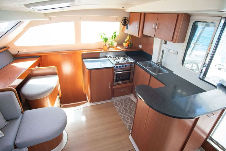 ISLAND R&R Yacht Charter - The galley