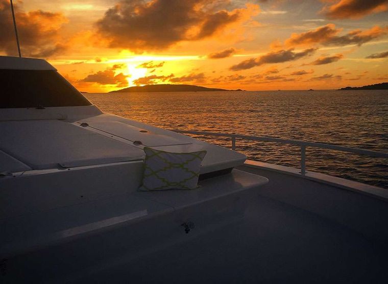 SUITE LIFE Yacht Charter - Bow Lounge Area and Oversized Sun Pad