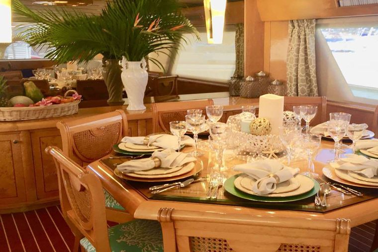 SUITE LIFE Yacht Charter - Elegant Inside A/C Dining