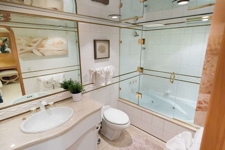 SUITE LIFE Yacht Charter - Master bath with Jacuzzi