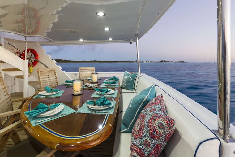 IL CAPO Yacht Charter - Aft Deck dining