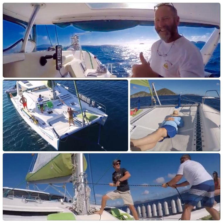 FREE INGWE Yacht Charter - A day on Board: do as much or as little as you want