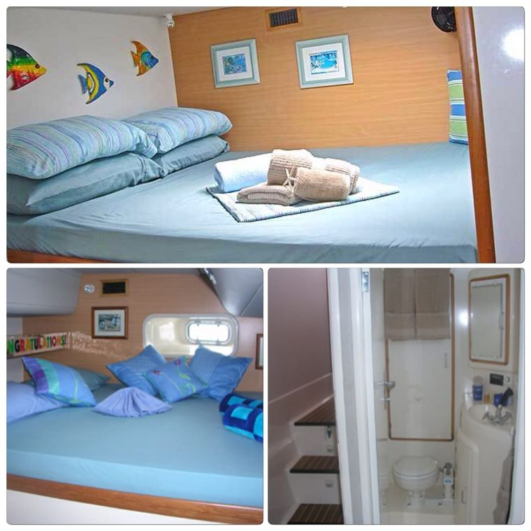 FREE INGWE Yacht Charter - Guest Queen Cabin 1