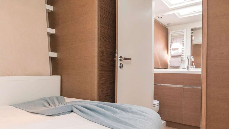 CNB76 Yacht Charter - Port guest cabins as double bed
