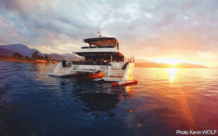 CUTE LITTLE CAT Yacht Charter - Sunset